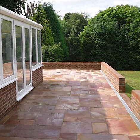 Photo of newly fitted paved patio area